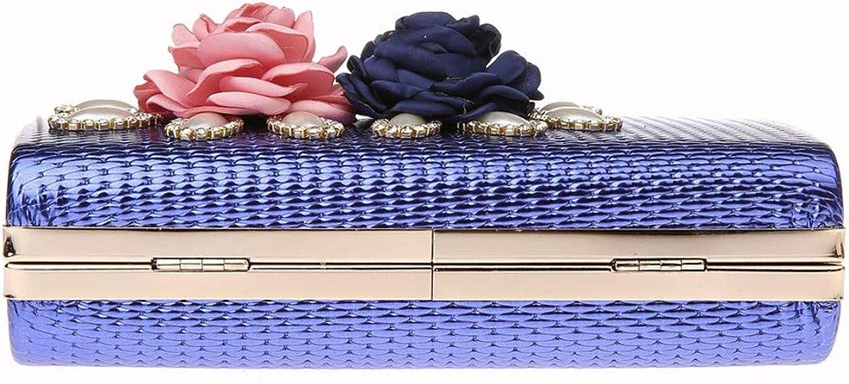 ShowYeu Femmes Sac D'embrayage Sac De Soirée Sac De Mariée Sac D'embrayage De Mariage Élégant Sac À Main Pochette Cadeau de Noël Bleu1