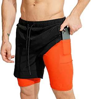 TAGGMY Mens Shorts Cotton Summer Casual Athletic Sports Fashion Printed Patchwork Loose Beach Short Pants Trunks L-3XL