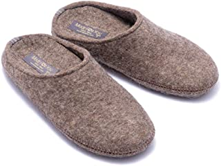 Made For You Women's Natural Wool Slippers with Arch Support Insole, Hypoallergenic, Lightweight with Non-Slip Rubber Sole