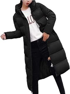 Womens Winter Warm Down Coat Hooded Thick Jacket Outwear Long Overcoat