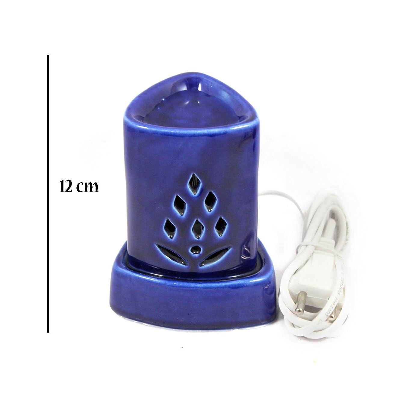 曲悪性の流産インドホームインテリア定期的な使用法汚染フリーハンドメイドセラミック粘土電気アロマオイルバーナー&ティーライトランプ/良質ホワイトカラー電気アロマオイルバーナーまたはアロマオイルディフューザー数量1