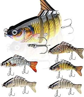7 Segmented Fishing Lure Multi-Joint Fish Lure Hard Plastic Fishing Tackle carp Fishing Bait Gear- 5 Colours