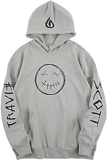 cpfm.xyz Travis Scott Uomo Felpe con Cappuccio Hip Hop Pullover Sweatshirt