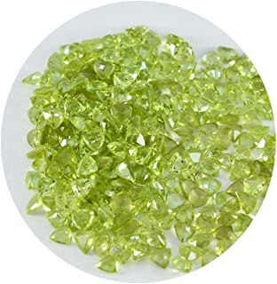 Joyas Plata 1PC Natural Green Peridot Faceted 4x4 mm Trillion Shape superb Quality Stone JP- STPERFCTR-4x4-us