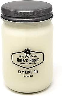 Nika's Home Key Lime Pie 12oz Mason Soy Candle