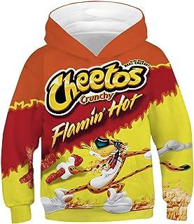 TAKUSHI HF Teen Boys Girls Fashion 3D Printed Galaxy Long Sleeve Pullover Hoodies Hooded Sweatshirts with Pocket 6-13Y