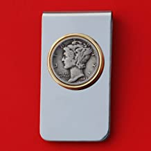 US 1942 Mercury Dime Silver 10 Cent Coin Two Toned Money Clip New