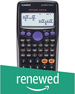 (Renewed) Casio FX-82ES Plus Display Scientific Calculations Calculator (Black)