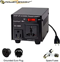 PowerBright Step Up & Down Transformer, Power ON/Off Switch, Can be Used in 110 Volt Countries...