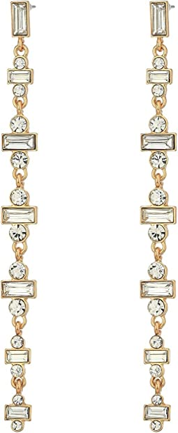 GUESS - Dainty Baguette Linear Earrings