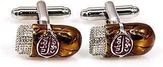 MRCUFF Cuban Cigar Pair Cufflinks in a Presentation Gift Box & Polishing Cloth