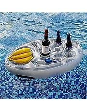 HoneybeeLY Nadmuchiwany uchwyt na napoje basen pływak na kubki, 70 x 50 cm nadmuchiwane podkładki pod kubki pływająca taca na imprezę przy basenie i zabawki do kąpieli dla dzieci