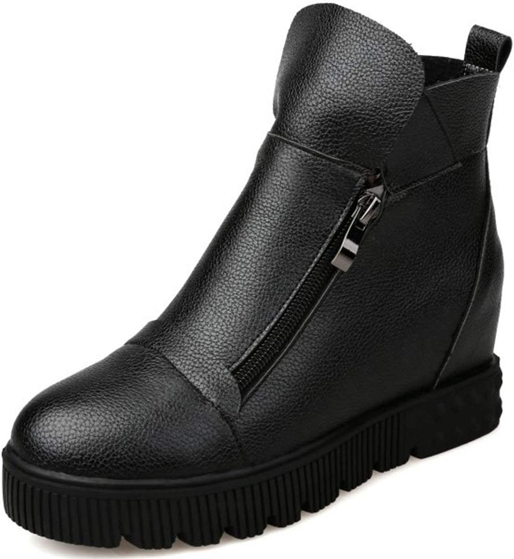 Unm Women Comfort Thick Solo Winter Ankle Boots shoes Hidden Heel
