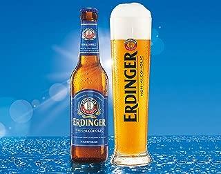 Erdinger Non-Alcoholic Malt Beer, The Refreshing Isotonic Recovery Drink, 11.2-oz (330 ml) Case of 24 Glass Bottles
