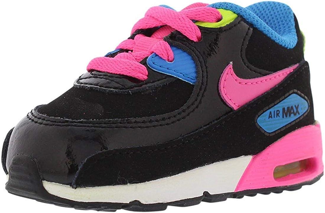 Nike Air Max 90 LTR pour Enfant Noir/Rose Pow-White-PHT Bleu, Noir ...