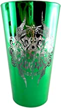 Just Funky Legend of Zelda Green Pint Glass w/ Etched Zelda Logo and Artwork. 16oz