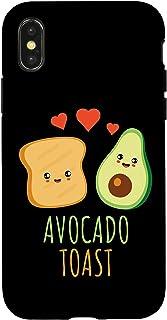 iPhone X/XS Kawaii Avocado Toast Avocado Half Faces Cute Case