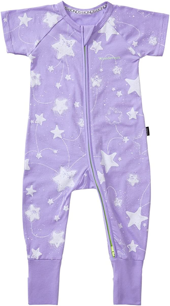Bonds Baby Short Sleeve Zip Wondersuit size 00 Colour Black Floral