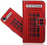 FoneExpert Wiko Sunny 2 Plus (5.0') Coque, Etui Housse Coque en Cuir Portefeuille Wallet Case Cover pour Wiko Sunny 2 Plus (5.0')