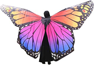 Halloween Party Prop Soft Fabric Butterfly Wings Shawl Fairy Nymph Pixie Costume