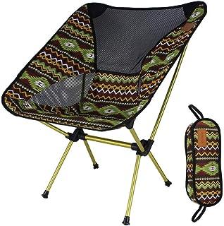 Miwaimao - Sillas plegables y portátiles para exteriores, ligeras, de aleación de aluminio, para camping, playa, senderismo, playa, pesca, jardín