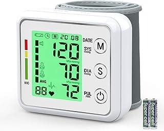 Monitor de presión arterial de la muñeca para el hogar, Medida digital automático de la presión arterial, Grande 3 del contraluz de la pantalla LCD 2 Modo de usuario con capacidad de memoria 198