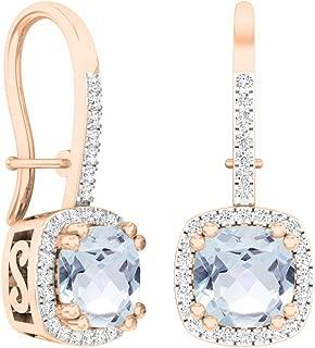 aquamarine diamond earrings white gold