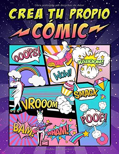 Crea tu propio cómic: 100 originales plantillas de cómics en blanco para adultos, adolescentes y niños: cubierta de unicornio 2872