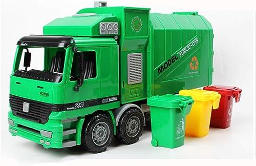Entrega gratuita y rápida disponible. Juguetes Xiaomei Modelo Modelo Modelo Camión de Basura Gran Ciudad Reciclaje de Camiones Levantamiento y caída camión 36  11.5  18.5cm  mas barato