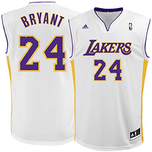adidas Kobe Bryant Los Angeles Lakers  24 White Alternate Kids 4-7 Replica  Jersey f8d0458b2