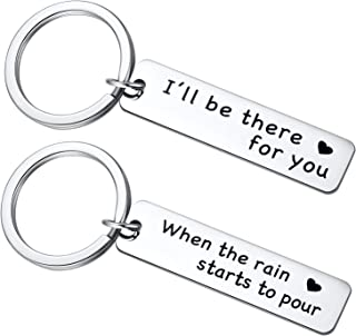 Friends TV Show Keychain, Friends Merchandise, I'll Be There for You Key Chain, Friendship Gifts for Men Women, Goodbye Gifts for Friends, Best Friend Keyring