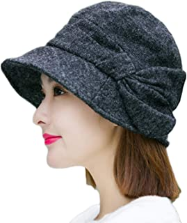 Literary Women Men Winter Autumn Retro Felt Plaid Print Beret Cap Newsboy Hat