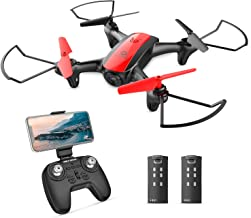 Holy Stone HS370 Drone with Camera, Small for Kids, Indoor Use, 2 Batteries, Flight Time 22 Minutes, FPV, Real Time, Altitude Hold, One Key Return, 2.4 GHz, 4CH Multicopter, Tumbling, Mode 1/2 Free Conversion, Domestic Certified
