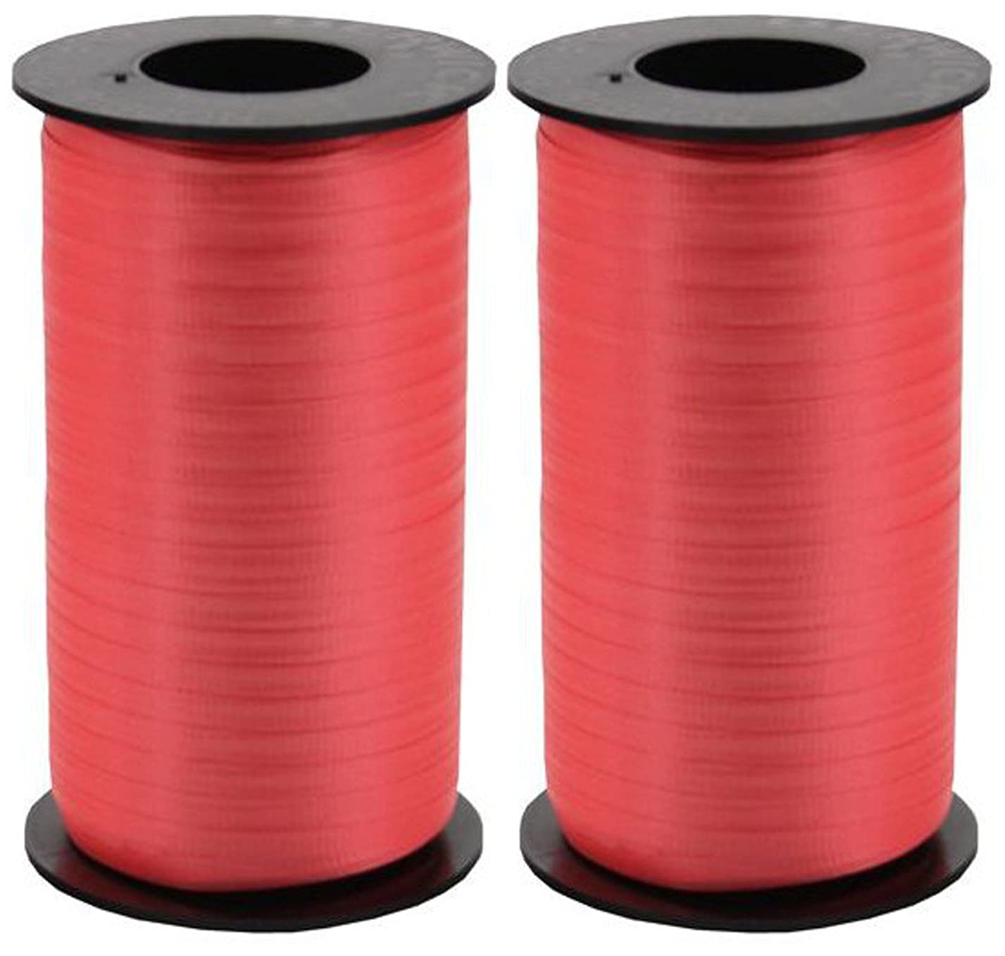 2-Pack - Berwick Splendorette Crimped Curling Ribbon, 3/16-Inch Wide by 500-Yard Spools, Red hu87191773