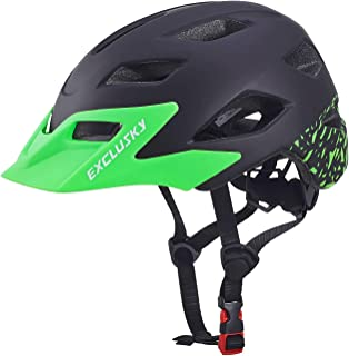 کلاه ایمنی مخصوص دوچرخه مخصوص کودکان Exclusky کلاه ایمنی قابل تنظیم سبک وزن برای پسران دختران 50-57cm (سنین 5-13)