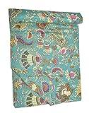 Tribal Asian Textiles Indische handgemachte Tagesdecke im Vintage-Stil, Kantha-Tagesdecke, Überwurf, Baumwolle, Gudri Queen