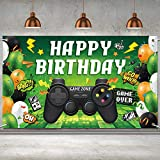 6 x 3.6 ft Video Game On Theme Party Supplies Backdrop Boys Teens Birthday Party Banner Neon Video Game Backdrop Game Hanging Background Decoration for Table Wall Decor Photo Booth Props