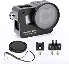 Aluminium Housing Case Alloy Protective Skeleton Frame with 52mm UV Filter and Lens Cap for Gopro Hero 5/6/GoPro HERO7 Black Action Camera Black with Rear Door