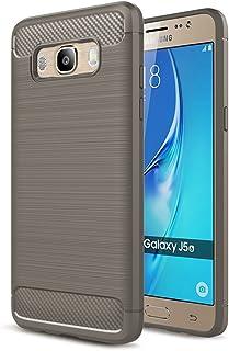 WindTeco Galaxy J5 2016 Funda - Ultra Slim Ligero Fibra de Carbono Flexible TPU Suave Amortiguador de Parachoques Goma de Absorción Case Cover para Samsung Galaxy J5 2016