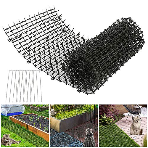 Cat Scat Mat with Spikes,Animal Spikes Deterrents 2m x 30cm Anti Cat Dog Animal Mat for Outdoor Gardens