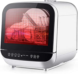 Lavavajillas pequeño| Lavavajillas Compacto Lavavajillas Lavavajillas Lavavajillas Portátil Encimera 950W De Potencia Totalmente Automático Sin Necesidad De Instalación De Alta Temperatura Desinfecció