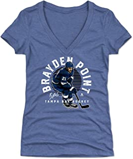 500 LEVEL Brayden Point Women's Shirt - Tampa Bay Hockey Shirt for Women - Brayden Point Emblem