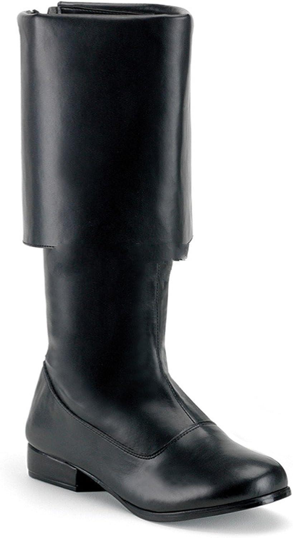 Funtasma by Pleaser Men's Halloween Pirate-100 Black Polyurethane Size -S