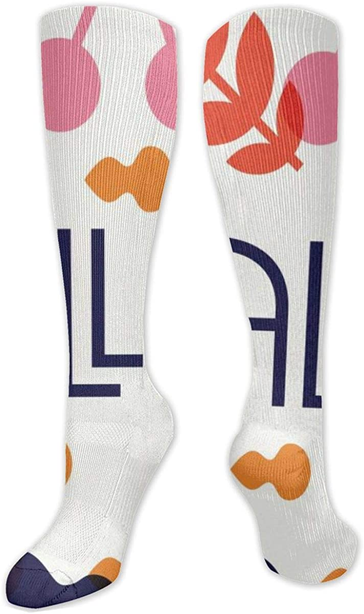 Hello Autumn Knee High Socks Leg Warmer Dresses Long Boot Stockings For Womens Cosplay Daily Wear