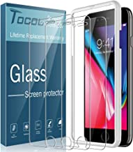 "TOCOL [3Pack] for iPhone 7 and iPhone 8 Screen Protector Tempered Glass HD Clarity Touch Accurate [9H Hardness] Easy Installation Tray (4.7"")"