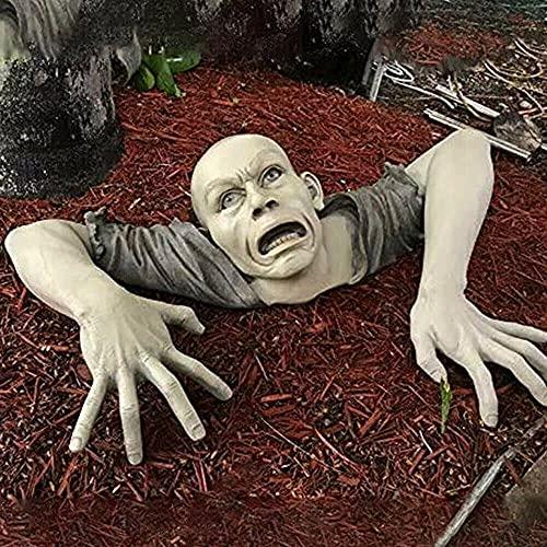 Estatua de jardín de Halloween Zombie para la mejor decoración de Halloween cementerio decoraciones de Halloween para patio, césped, patio, jardín de vacaciones regalo