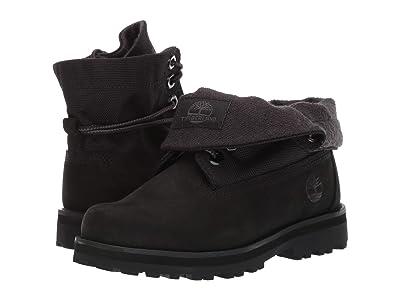 Timberland Kids Courma Roll Top Boot (Little Kid) (Black Nubuck) Kid