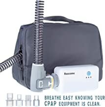 Rescare Professional CPAP Cleaner System Ozone Disinfection Sanitizer for CPAP,Mask and Hose Attach 4 Hose Adapters丨 Non-Rechargeable (2019 Newer)