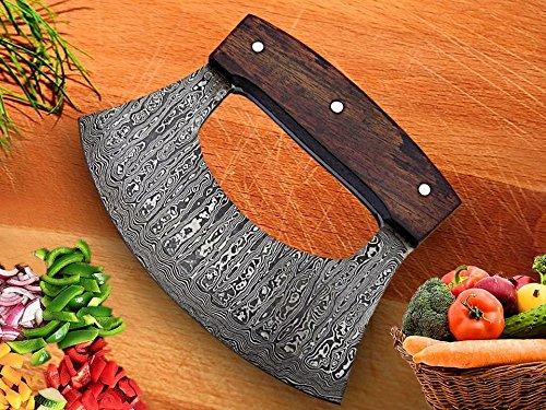 RK-TTC-109 - Cuchillo de cocina hecho a mano con mango de madera de rosa