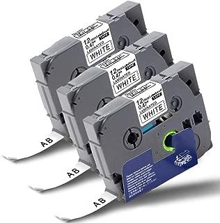 TZe-731 Laminato e Nastro Standard Adesivo Etichetta 12mm x 8m TZe-431 TZe-231 TZe-531 TZe-631 6x Tape Cassette Compatibile Brother P-Touch TZe-131